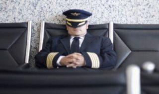 Sleeping Airline Pilot