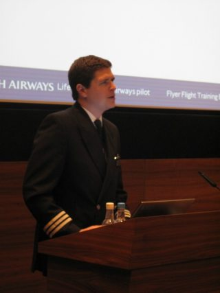 Lindsay Craig, BA's Manager of pilot recruitment, presented information about the airline's Future Pilot Programme at the exhibition