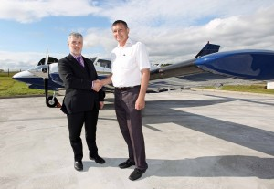 Allen Field (left) , Vice President and Director of Operations at AFTA & Captain Mikhail Batayev, Manager of Training Standards at Air Astana