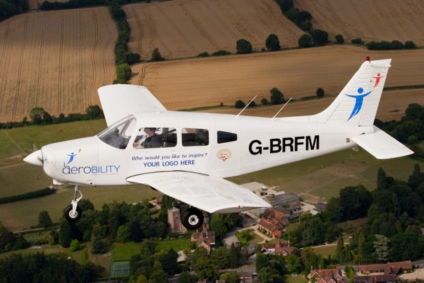 Aerobility is a charity which offers disabled people, without exception, the opportunity to fly an aeroplane.
