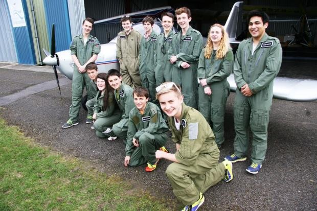 The Cotswold Aviation Scholarship winners had the chance to learn more about an aviation career