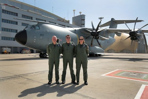 The UK Military Flying System will prepare pilots for flying aircraft such as the A400M. (Crown Copyright.)