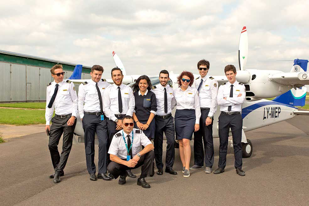 Students at a BAA Training aerodrome.