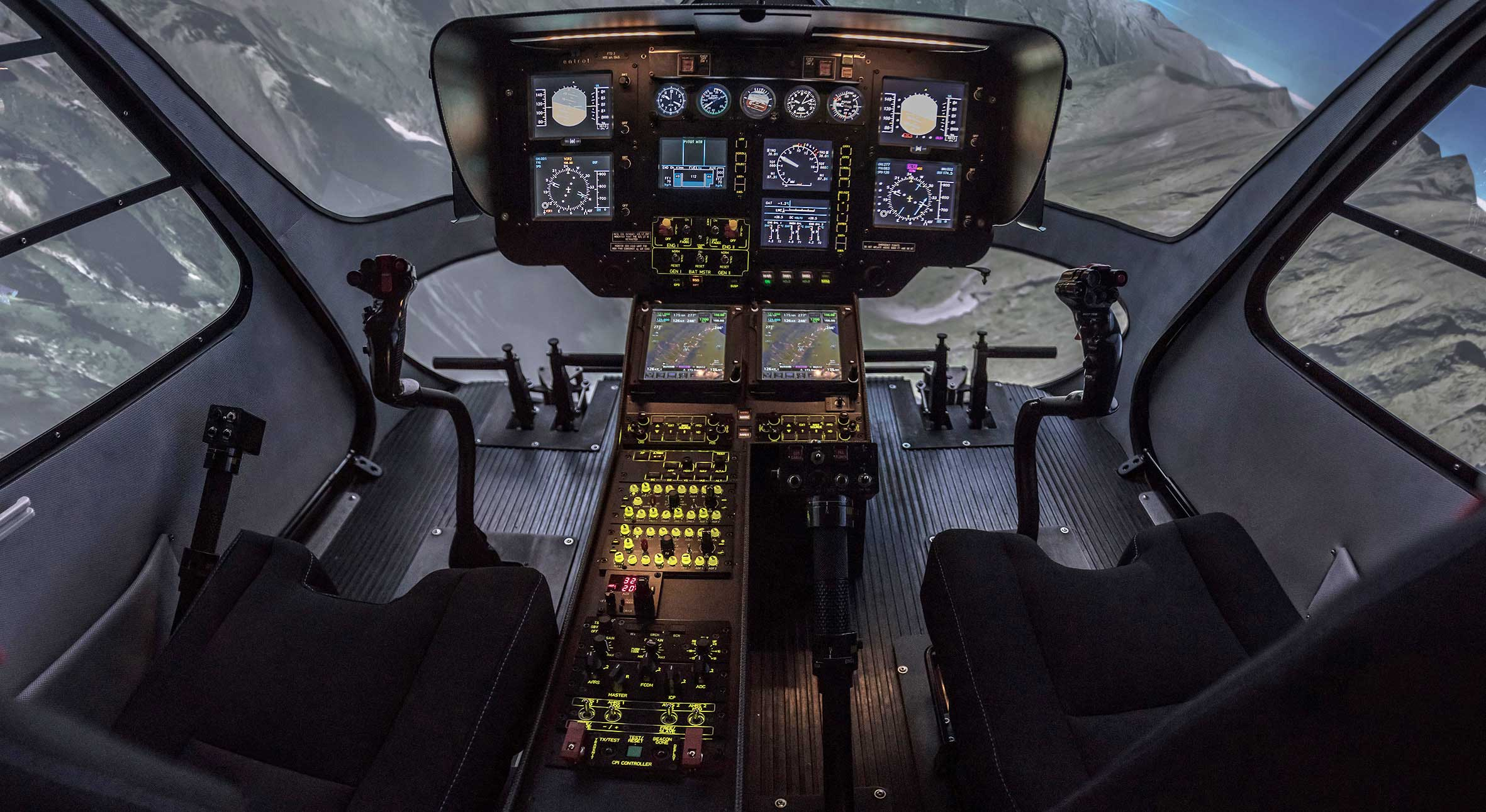 Entrol helicopter flight simulator