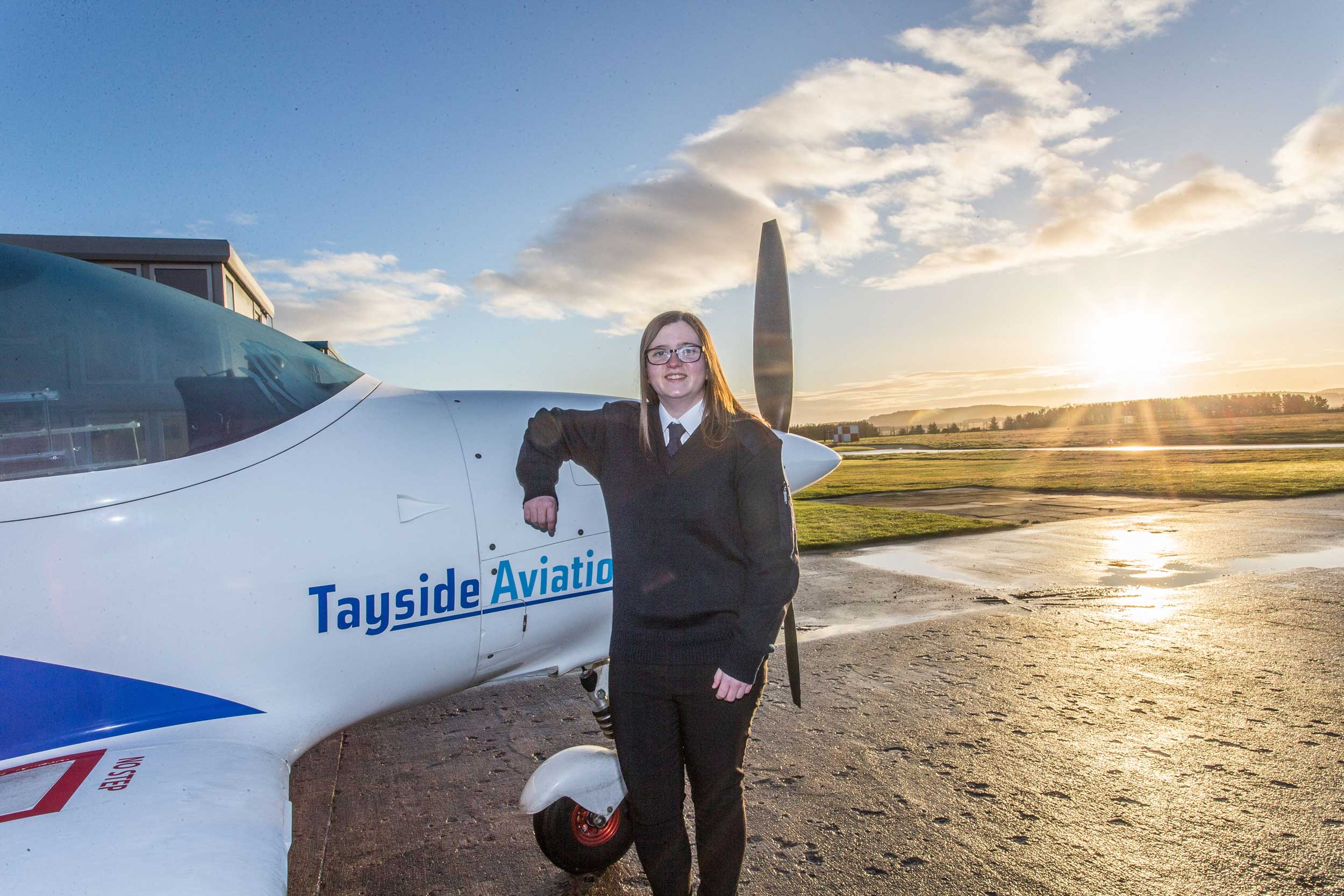Abbie Chalmers Tayside pilot degree course