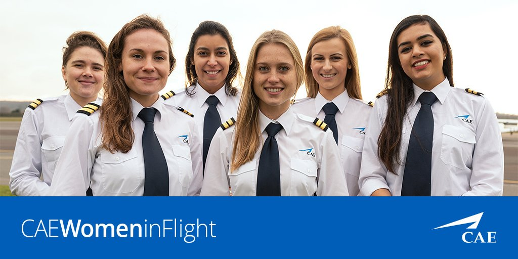 CAE women in flight