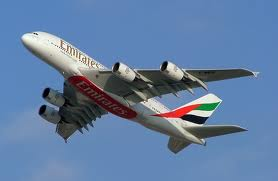 A380 in Emirates livery
