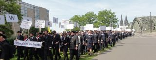 The demonstration took place on Monday 14 May 2012