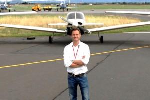 DTFT MD David Ripley at the airfield