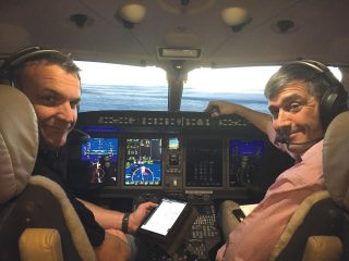 MD Craig McLeod (left) and Captain Peter Riley