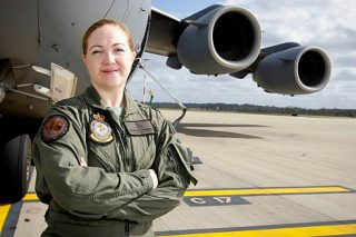 Squadron Leader Samantha Freebairn is a C-17A Globemaster II pilot in the RAAF (ADF)