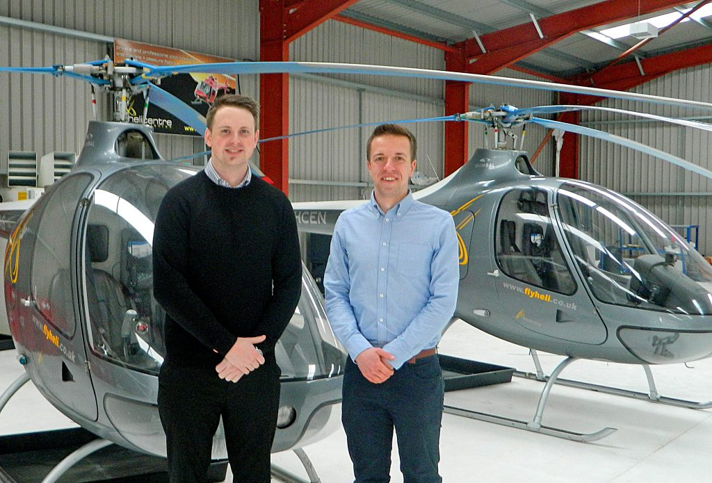Last year's scholarship winners, Joe Hynes and Callum Tinnion