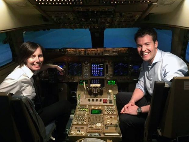 Michael Windsor (right) trained with Wings Alliance schools and has recently been offered a flying position with Flybe