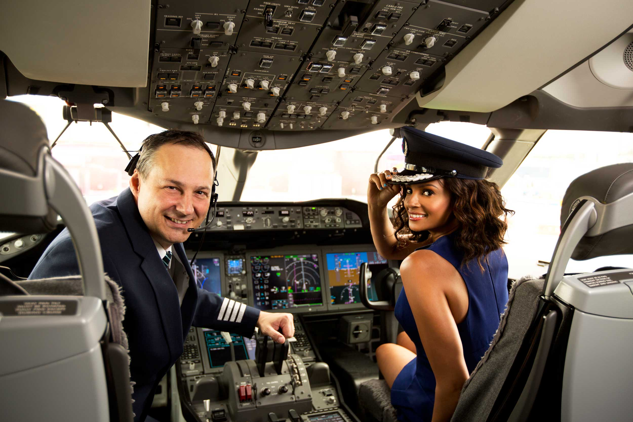 Cabin crew in air plane 8