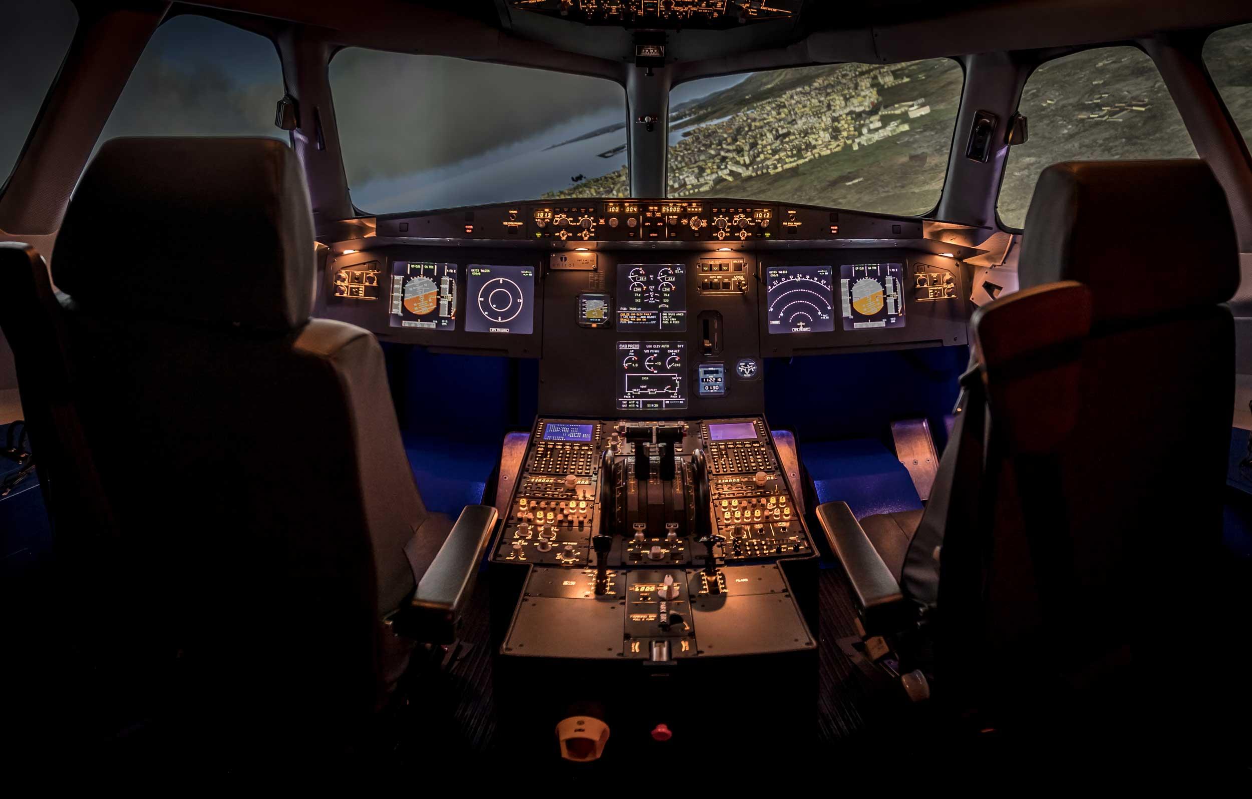 Entrol A320 flight simulator