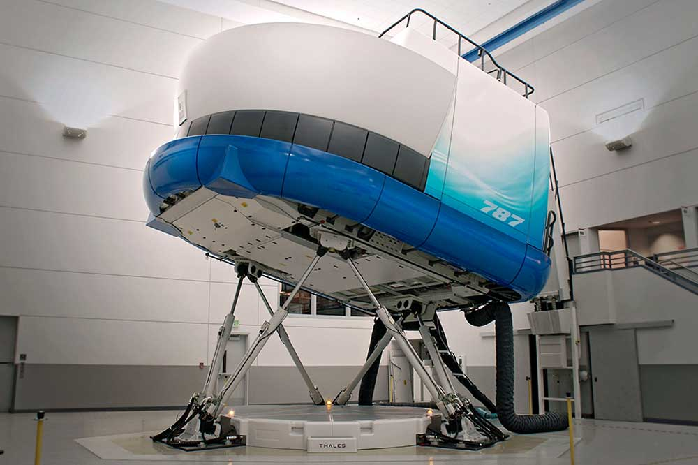 Boeing flight simulator
