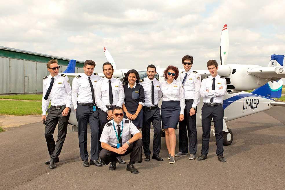 Students at a BAA Training aerodrome.