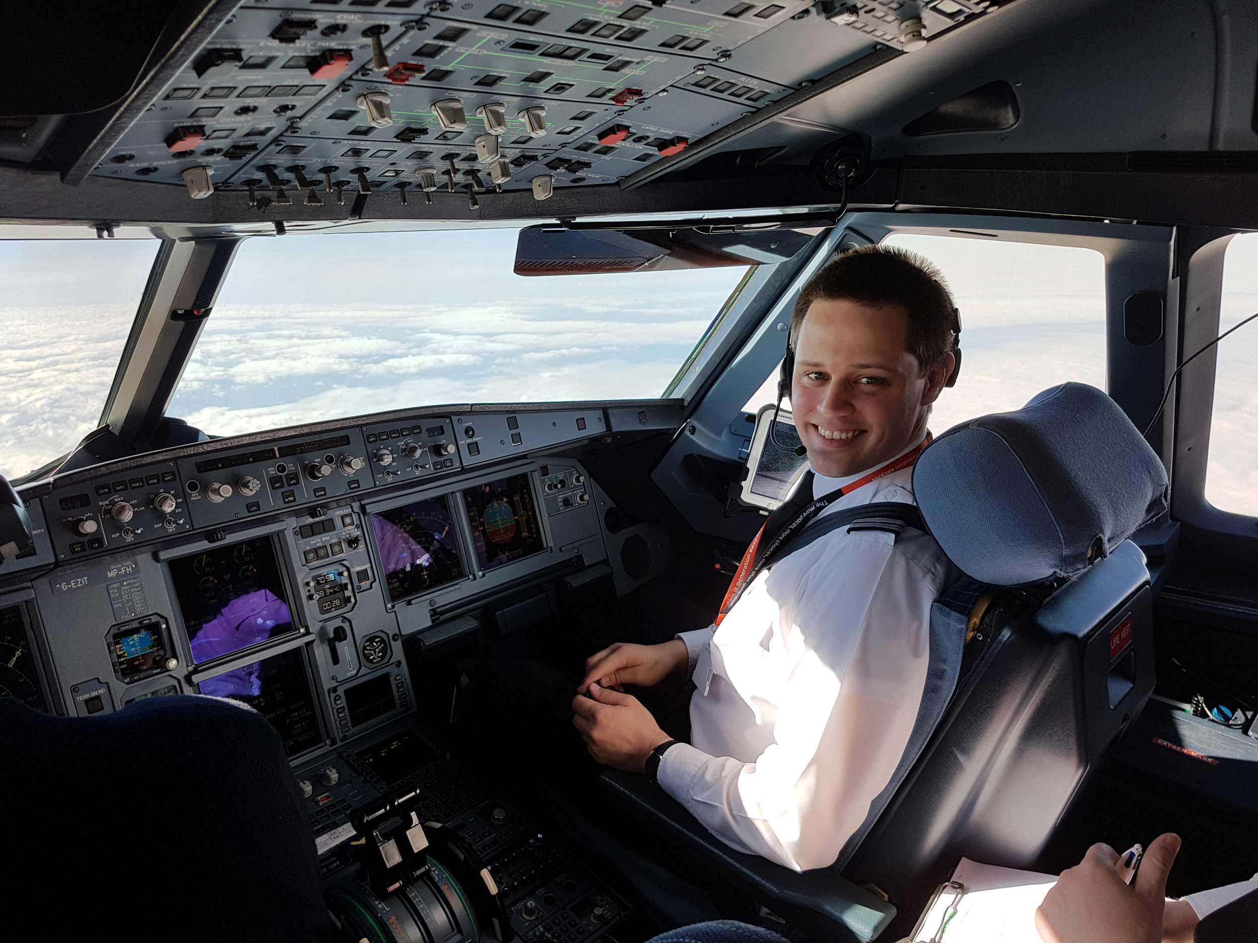Tom Robinson easyJet pilot