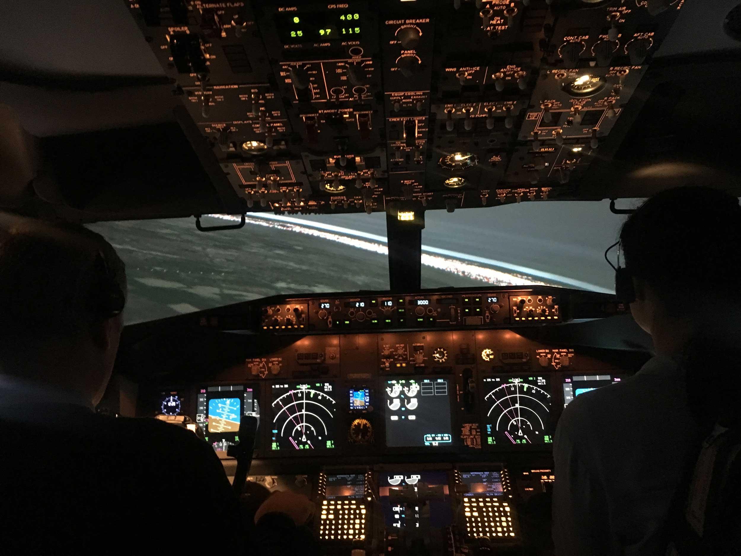 FTA Jet Masterclass Boeing simulator