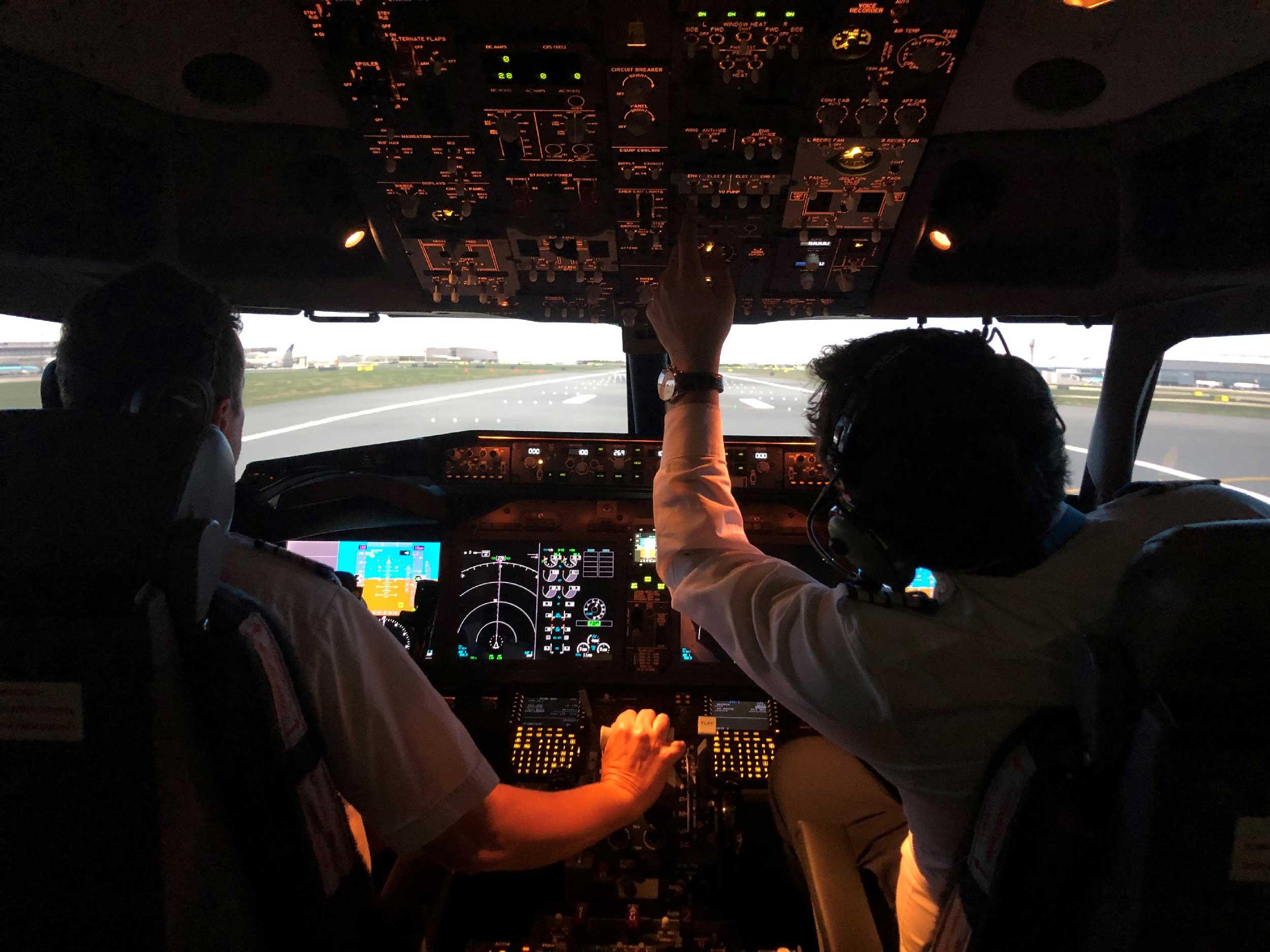 Skyborne B737 MAX simulator