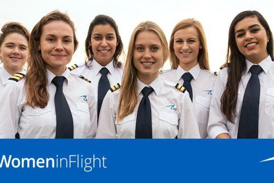 CAE women in flight