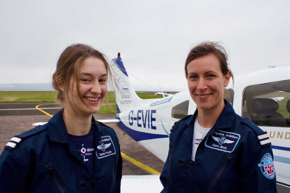 Tayside aviation Rachel Foyle