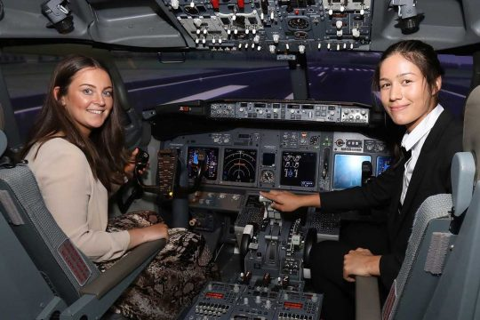 Olivia Clarke, left, and Myriam Ley