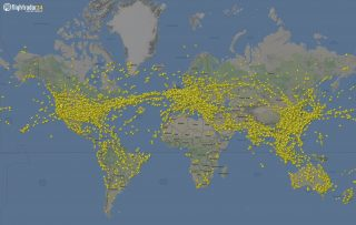 FlightRadar24 air traffic