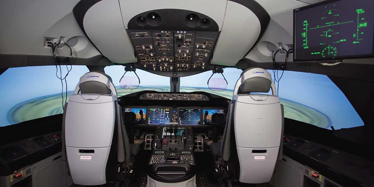 Etihad 787 simulator
