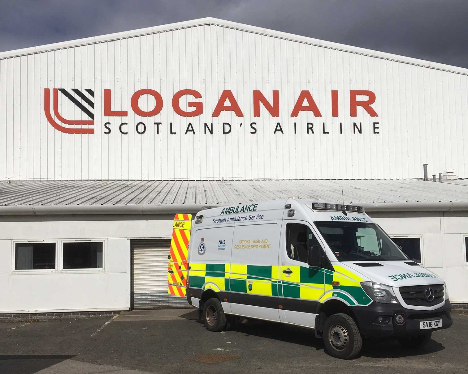 Loganair Scottish Ambulance Service