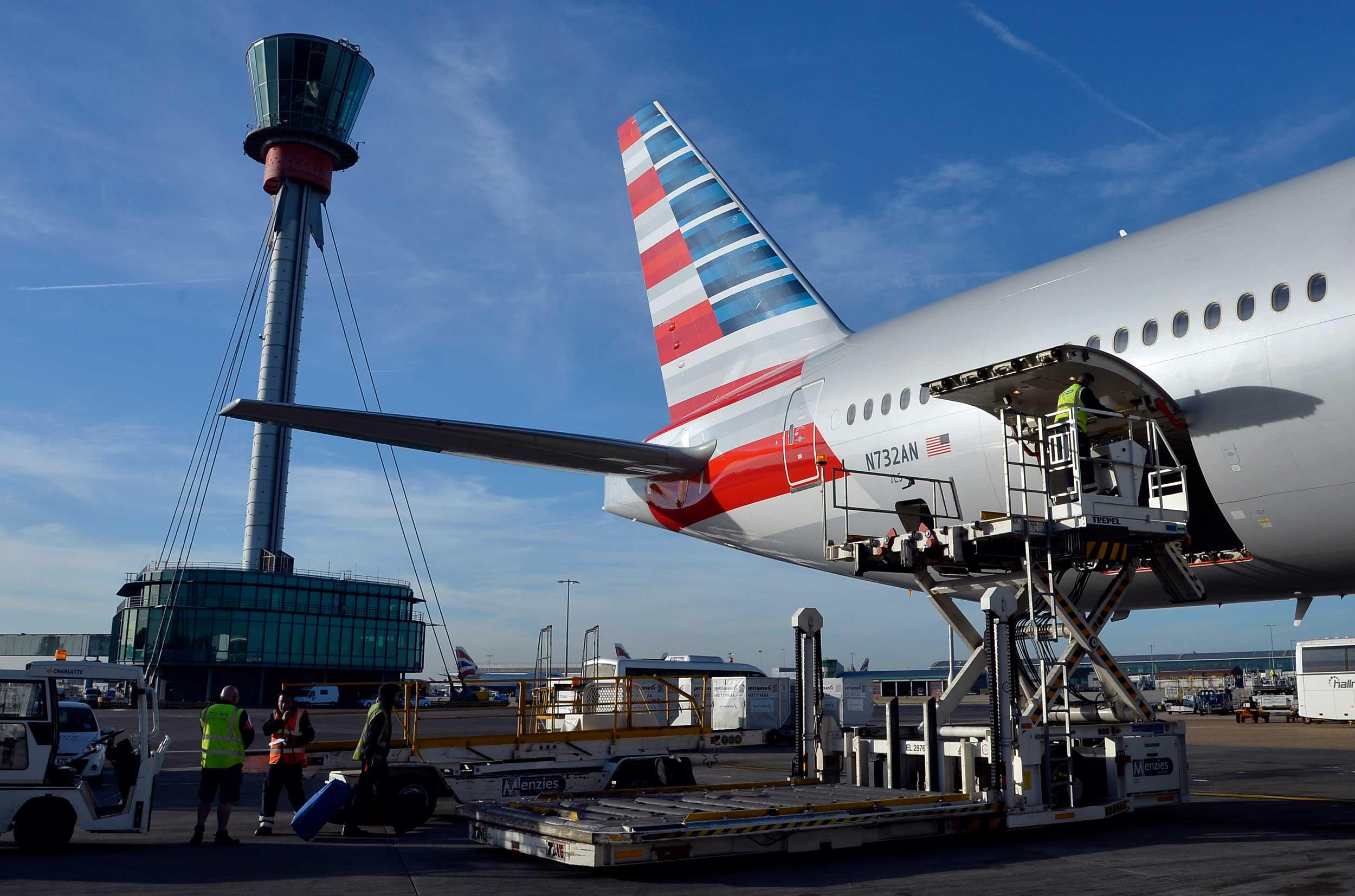 Heathrow cargo C-19