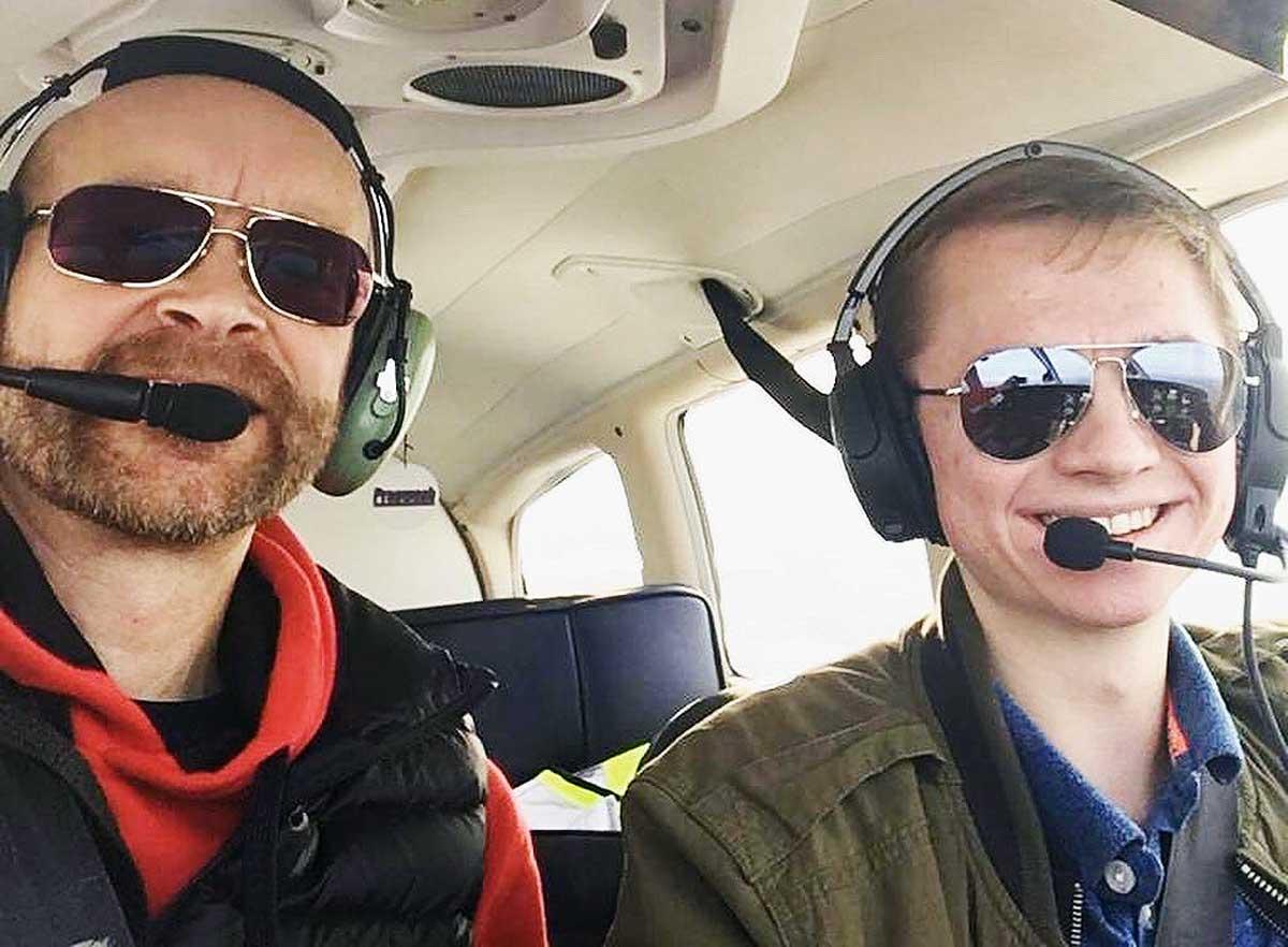 Harry Tait student pilot