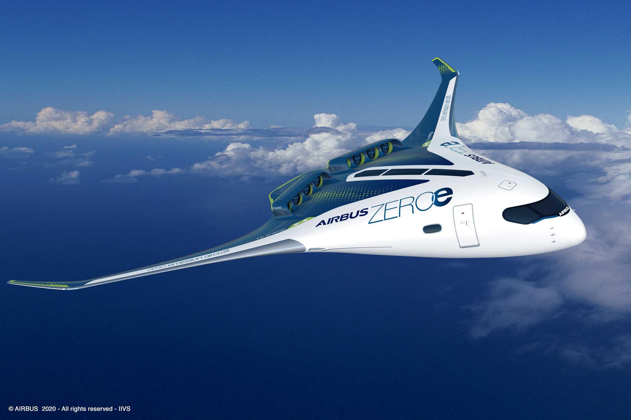 Airbus ZEROe blended wing