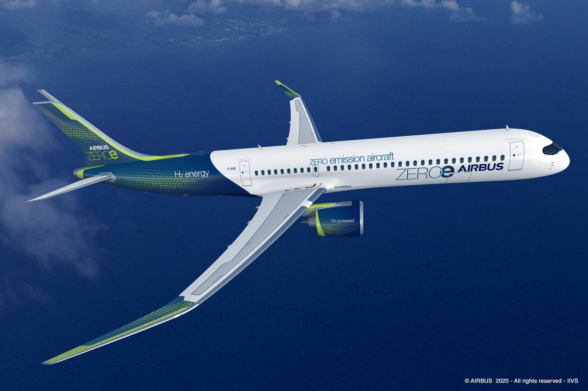 Airbus ZEROe turbofan