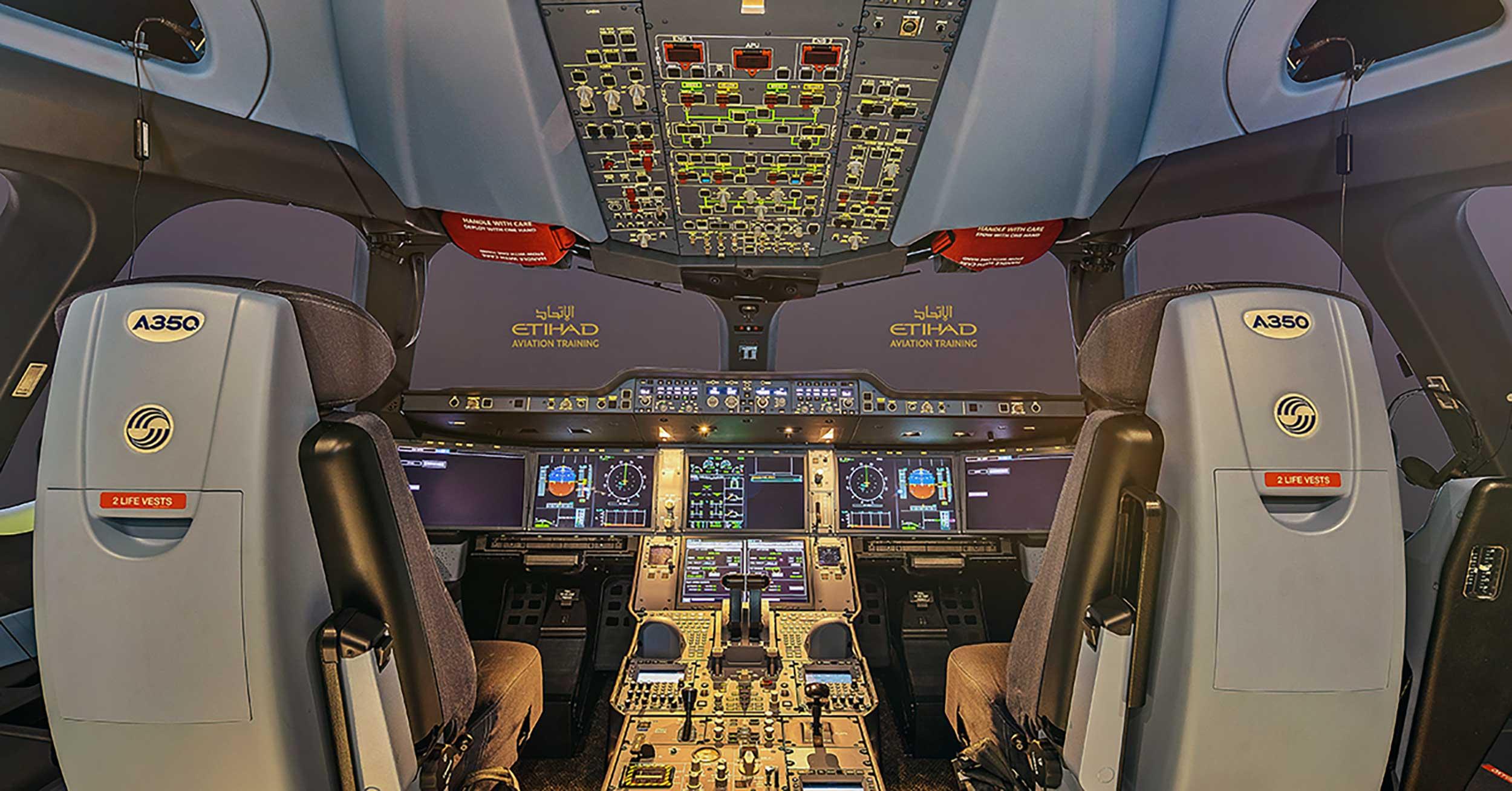 Etihad A350 sim