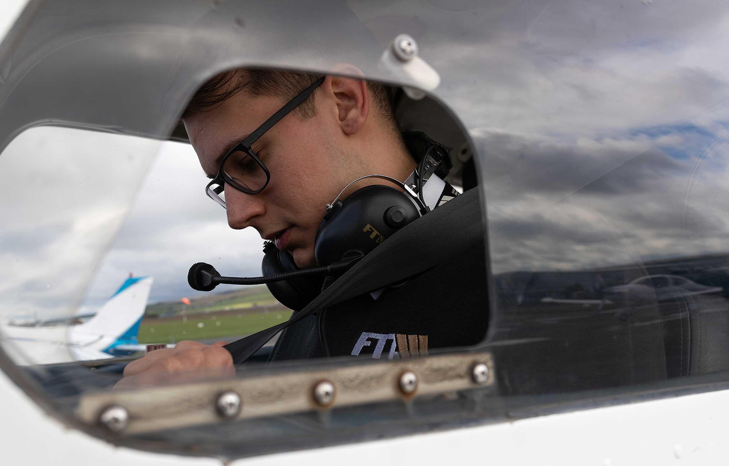 FTA flight instructor James Piper