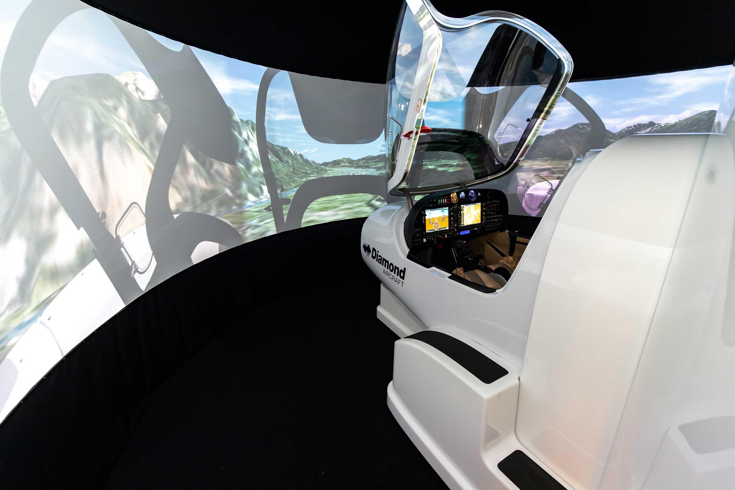 Diamond DA42 simulator