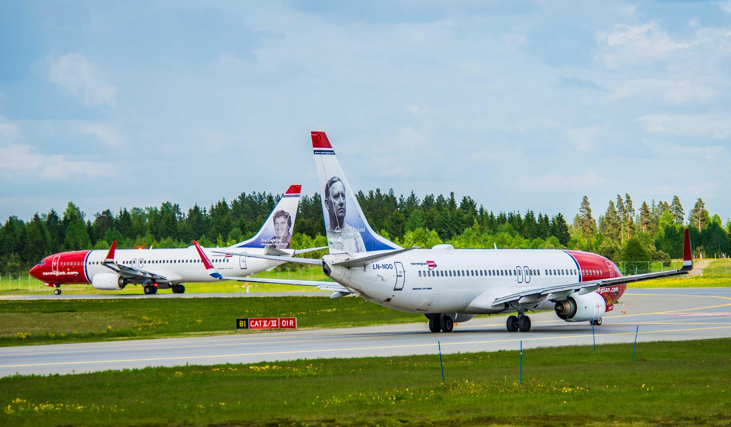 Norwegian airliners